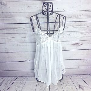 In Bloom By Jonquil White Lace Babydoll